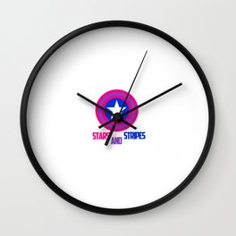 Stars and Stripes- Bisexual Steve Rogers Wall Clock
