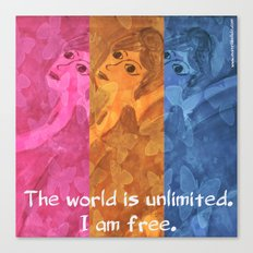 The world is umlimited. I am free... Canvas Print