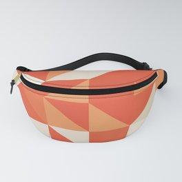 Decorative Orange Geometerical Pattern Fanny Pack