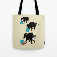 coffee Tote Bags featuring Coffee Cat by Boots