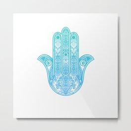 Hamsa Hand of Fatima Metal Print