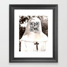 Audrey Hepburn (The Nun's Story) Framed Art Print
