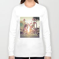 santa monica Long Sleeve T-shirts featuring Santa Monica Blvd. by Kurt Schawacker