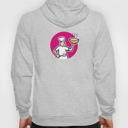 Chef Cook Holding Bowl Oval Cartoon Hoody