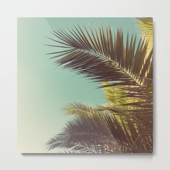 Autumn Palms Metal Print