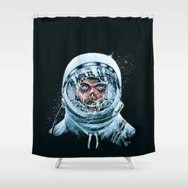 Zombie Spaceman Shower Curtain