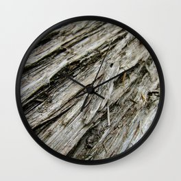 Bark on a Downed Tree Wall Clock