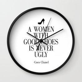Gift for her Gift Women Bathroom Decor Bathroom Sign Fashion art Fashion print Fashion Art Coco Wall Clock