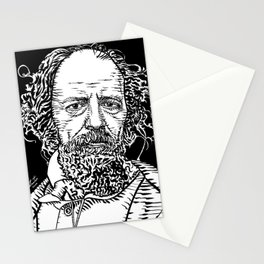 ALFRED,LORD TENNYSON ink portrait Stationery Cards