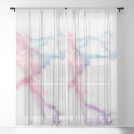 Unicorn Vein Marble Sheer Curtain