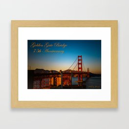 Always Golden Framed Art Print