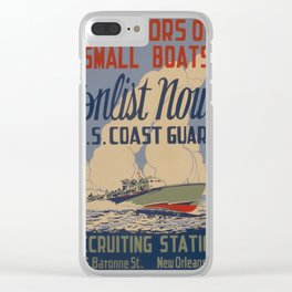 Vintage poster - Coast Guard Clear iPhone Case