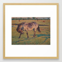NILS KREUGER,  (A LITTLE HORSE). Framed Art Print