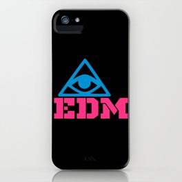 EDM rave logo iPhone Case