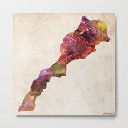 Marocco map Metal Print