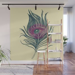 Feather in my eye Wall Mural
