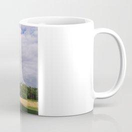 Evening light on Scots Pine trees (Pinus sylvestris). Norfolk, UK Coffee Mug