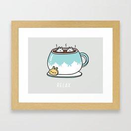 Marshmalunny Cocoa Framed Art Print