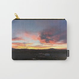 Cody Sunset Over Heart Mountain Carry-All Pouch