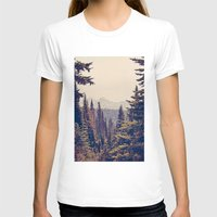 canada T-shirts featuring Mountains through the Trees by Kurt Rahn