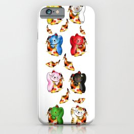Maneki neko with lucky koi carp  iPhone Case