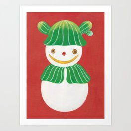 LITTLE SNOWMAN Art Print