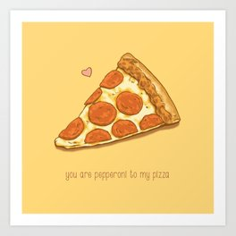 Pizza Valentine Art Print