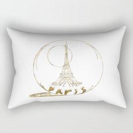 Golden Paris . Eiffel tower . Art Rectangular Pillow