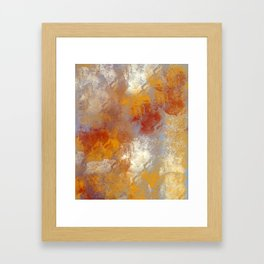 Abstract in Butterscotch, Red, and Gray Framed Art Print