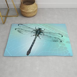 Dragonfly vector Rug