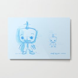 Vinyl Figure Series The Concept Drawing Metal Print