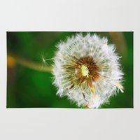 dandelion Area & Throw Rugs featuring Dandelion by Falko Follert Art-FF77