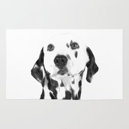 Black and White Dalmatian Rug