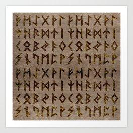 Ancient Celtic Runes  Alphabet pattern Art Print