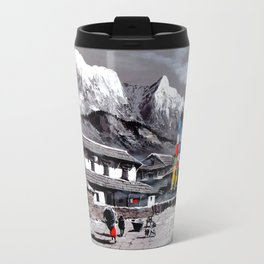 Panoramic View Of Everest Base Camp Travel Mug