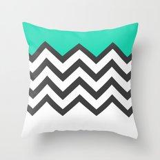 Color Blocked Chevron 9 Throw Pillow