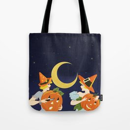 Vintage Halloween Costume Party Pumpkin Carving Tote Bag