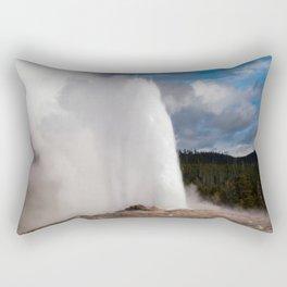Geyser Starting to Blow Rectangular Pillow