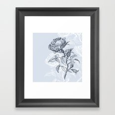 Graphic drawing roses Framed Art Print