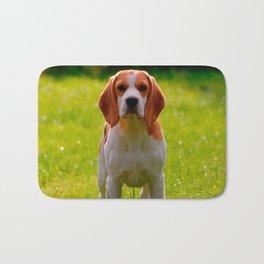 beagle puppy on guard Bath Mat