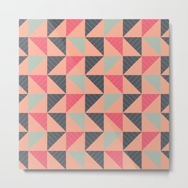 Triangle pattern Metal Print