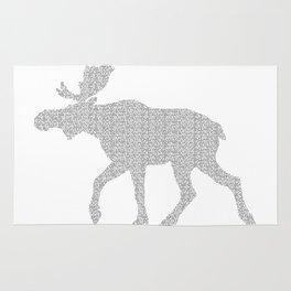 Moose Code Rug