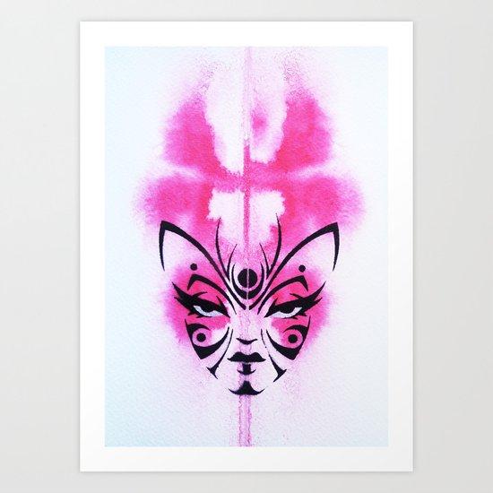 Kabuki Kreature Art Print