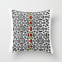Mughal Window in color Throw Pillow