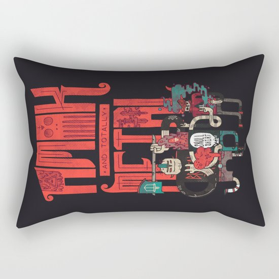 Amok And Totally Metal Rectangular Pillow