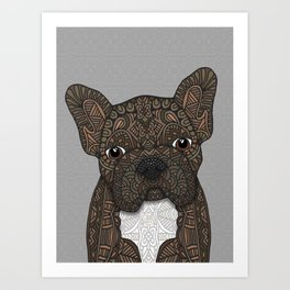 Brindle Frenchie 001 Art Print