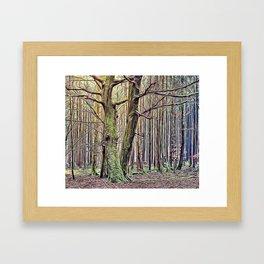 Autumn Forest Airbrush Artwork Framed Art Print