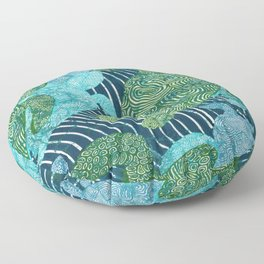 sea turtles Floor Pillow