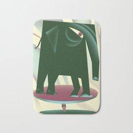 Elephant on a tack Bath Mat