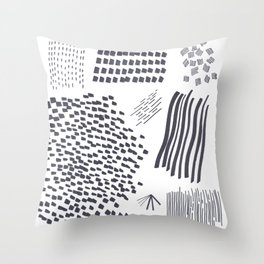 Abstract Marks Nr 2 Throw Pillow